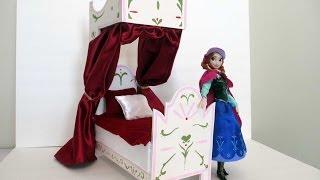 Disney Frozen Slaapkamer : How to make a elsa doll bed tutorial disney frozen Самые лучшие