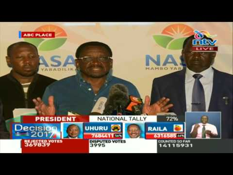 Wafula Chebukati has contacted Nasa today in the morning for a meeting - James Orengo