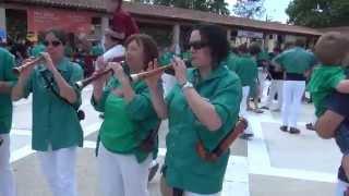 preview picture of video '20140713 - 07 - Toc de Vermut - Festa Major de Polinyà - Capgirats - Castellers de Castellar'