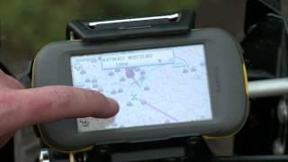 Locking GPS Mount, Silver, Garmin Montana / Monterra