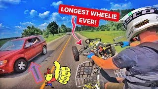 LONGEST KTM Quad Wheelie To Date! Can You Beat Me???