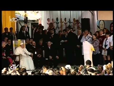 Le Pape rencontre les habitants du quartier Banado Norte d'Asuncion