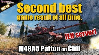 WOT: M48 Patton, Second best game result ever on EU server, WORLD OF TANKS