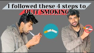 4 EASY STEPS TO QUIT SMOKING | Cigarette ki latt chut jayegi | MRIDUL MADHOK