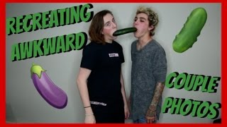 RECREATING AWKWARD COUPLE PHOTOS | TREVOR MORAN