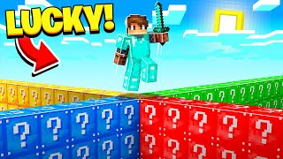 Playing LUCKY BLOCK WALLS in Minecraft!