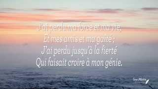 """""""Tristesse"""" poème d'Alfred de Musset"""