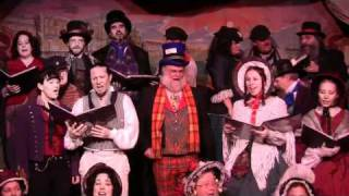 Paddy West Joins Caroling at  Dickens Fair