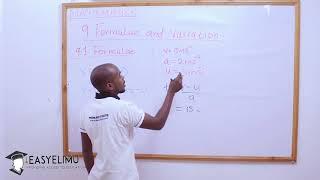 Formulae and Variations - Form 3 Mathematics EasyElimu