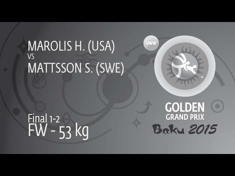 GOLD FW - 53 kg: H. MAROLIS (USA) df. S. MATTSSON (SWE), 2-1