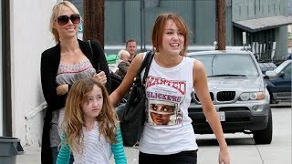 Miley Cyrus Enjoys A Sunday Outing With The Fam [2008]