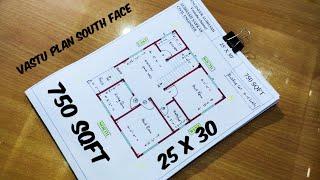 750 Sqft Home Design II 25*30 HOUSE PLAN II 25*30 NORTH FACE HOUSE PLAN