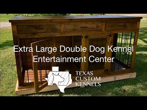 Double Dog Kennel Entertainment Center Overview By Texas Custom Kennels