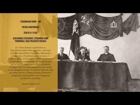Dr. Vilma Bukaitė | Aleksandras Stulginskis: Steigiamojo Seimo pirmininkas, einąs prezidento pareigas