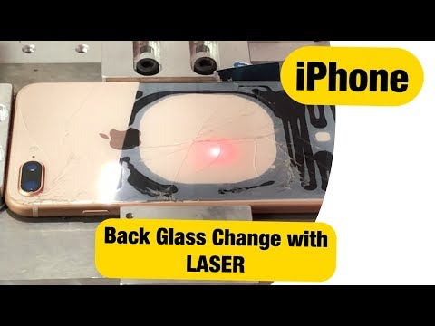 iPhone Back Glass Change with Laser