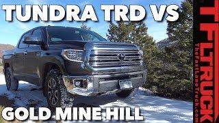 Redo! 2018 Toyota Tundra TRD vs a Snowy Gold Mine Hill Off-Road Review | Kholo.pk