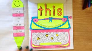 Sight Word Activities - Interactive Notebooks In Kindergarten