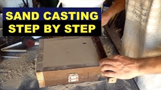 SAND CASTING LESSON FOR BEGINNERS - STEP-BY-STEP - (A 3rd HAND) - MSFN - Video Youtube