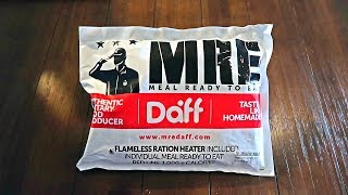 Tasting Chilean Military MRE (Meal Ready to Eat) Single Meal