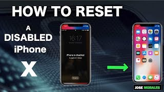 iPhone X - How To Remove Password - Restore Disabled iPhone