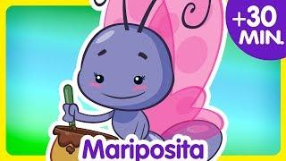 MARIPOSITA + Compilado De Clips 30 Min. Enganchados    Canciones Infantiles De La Gallina Pintadita