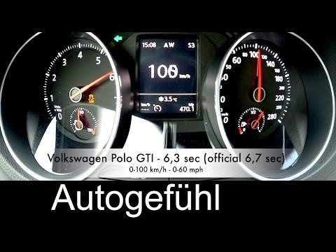 New Volkswagen Polo GTI acceleration 0-100 & 0-200 km/h DSG - Autogefühl