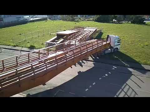 Vídeo transporte pasarela Guadalhorce desde Asturias