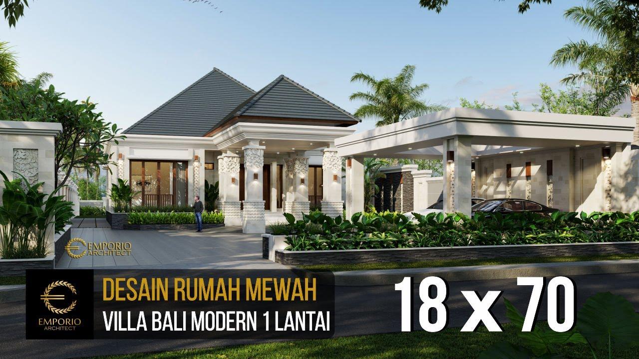 Video 3D Desain Rumah Villa Bali Modern 1 Lantai Bapak Ivan