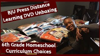 BJU Press 6th Grade Unboxing // Curriculum Choices 2019-2020