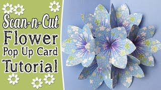 Brother ScanNCut Tutorial: Pop-Up Blooming Flower Card Tutorial in ScanNCut Canvas