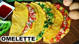 3 Easy Vegetable Omelette Recipe in Hindi | CookWithNisha