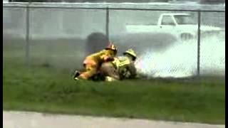 Fire School Losse Hose Run Down   Funny man videos   Avzio
