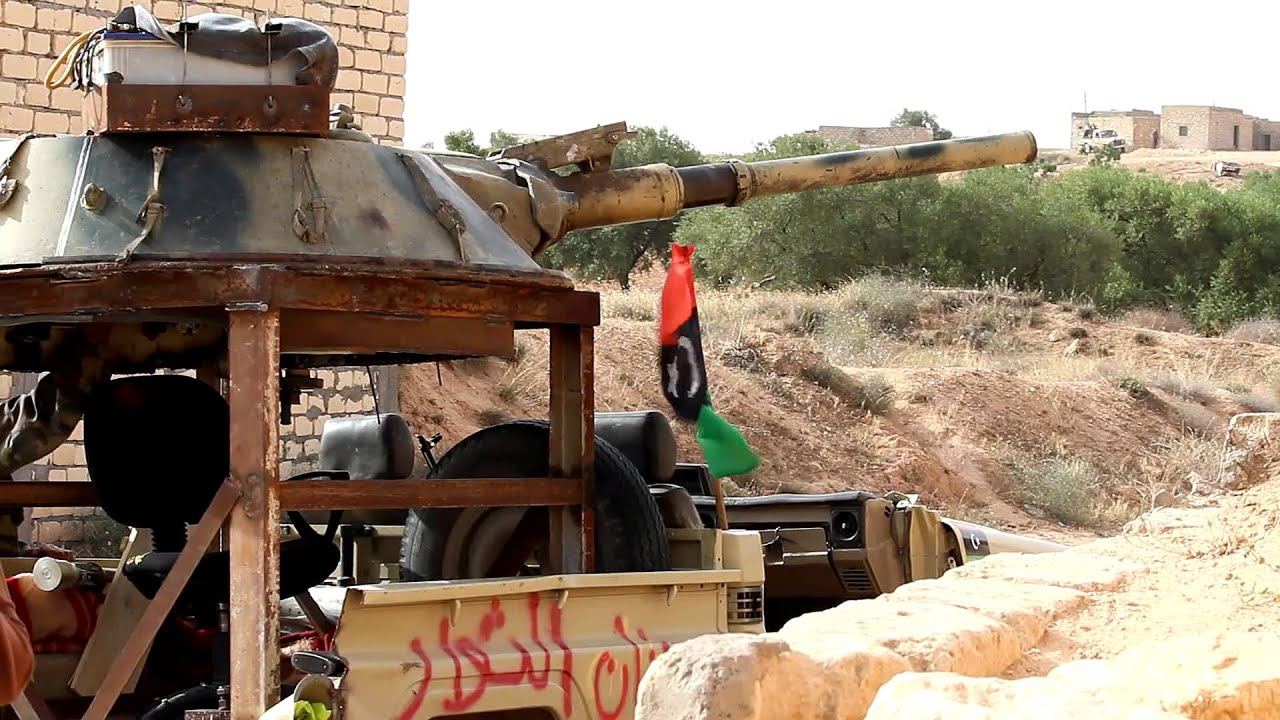 Crazily Brilliant Libyan Rebels Weld Tank Turret To Truck