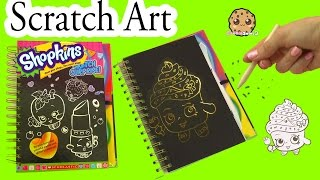 Shopkins Sketch Surprise Scratch Drawing Art Book -  Limited Edition Cupcake Queen - Cookieswirlc