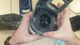 AEG CX8 Laut reparieren Öffnen Motor Filter reinigen/ open loud cleaning