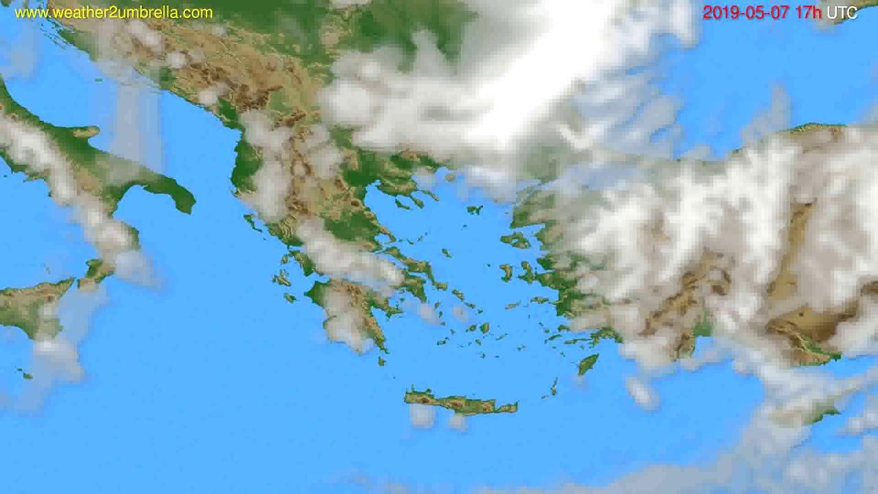 Cloud forecast Greece // modelrun: 00h UTC 2019-05-06