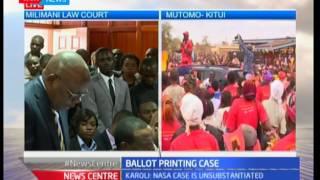 Attorney General Githu Muigai pleads case on IEBC ballot printing row