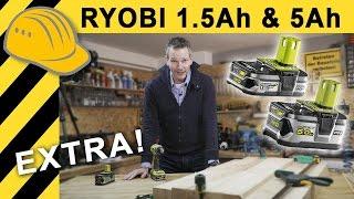 RYOBI ONE+ AKKU TEST | LOHNT DER 100 EURO AKKU? 5Ah ONE+ AKKU vs 1,5Ah AKKUSCHRAUBER VERGLEICH!