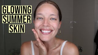 Everyday Summer Skincare Routine | Simple + Effective Routine For Glowing Skin | Emily DiDonato