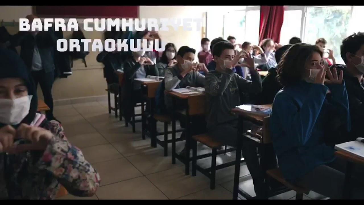 """Bafra Cumhuriyet Ortaokulundan """"lösev İle El Ele"""" Projesi"""