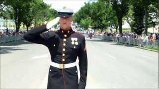 Rolling Thunder XXV   5-27-2012  |  Riders Were Saluted by Three Marines