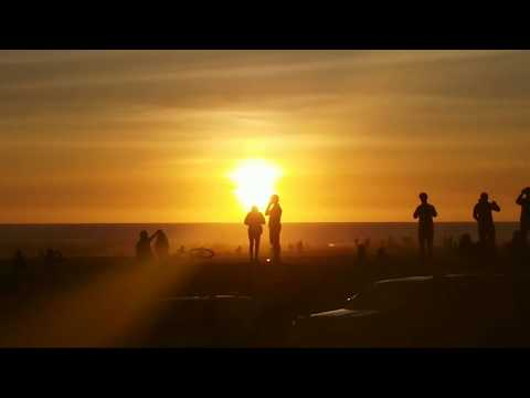 one of the best venice beach sunsets
