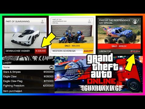 GTA ONLINE NEW DLC CONTENT DETAILS - FREE ITEMS, NEW VAGNER SUPER CAR, INDEPENDENCE DAY 2017 & MORE!