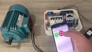 15º Arranque De Un Motor Trifásico Con El Celular   ARDUINO ONLINE