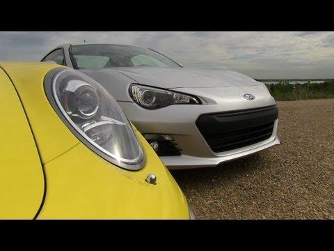 2013 Subaru BRZ vs Porsche 911 Carrera S Mile High Mashup Review