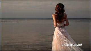 Amore Blush Boho Wedding Dress With Gorgeous Lace Overskirt | Bridal Separates By StylishBrideAccs
