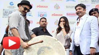 WATCH Ranveer Singh Plays The Dhol | Gajanana Song Launch | Bajirao Mastani