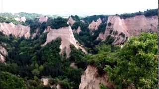 Sandstone formations surrounding the town of Melnik in Bulgaria. The region has a lot to offer in terms of hiking, biking as well as cultural and historical sites. It is also famous for its red wine.