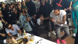Chris Brown Dances To African Music On The Low (Angelina) By Burna Boy