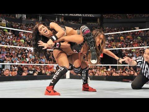 Nikki Bella vs AJ Lee vs Paige - WWE Night Of Champions- WWE SMACKDOWN FULL SHOW
